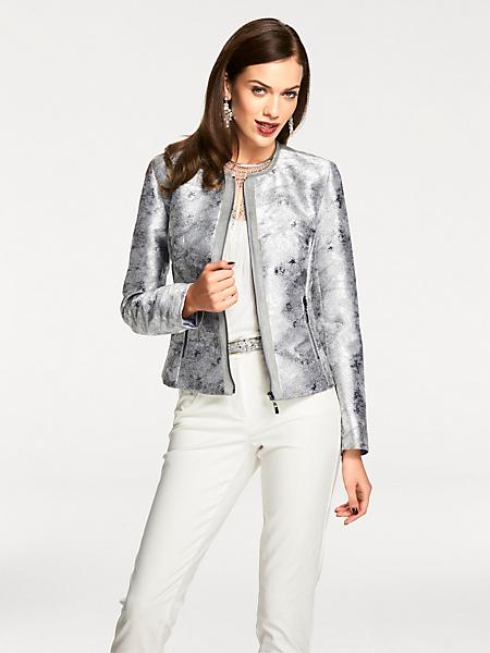 Ashley Brooke - Veste blazer originale effet métalisé fermeture éclair