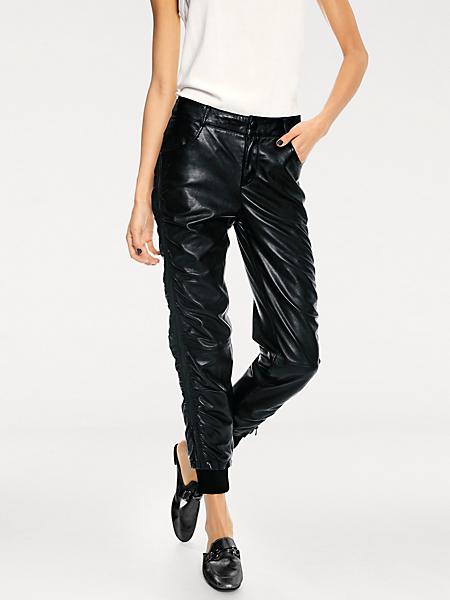 B.C. Best Connections - Pantalon en cuir original, coupe 7/8 tendance, à poches