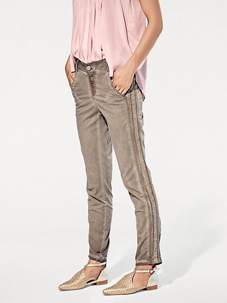 B.C. Best Connections - Pantalon chino 7/8e à bande latérale et effet dégradé