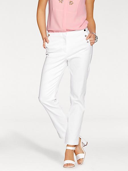 Ashley Brooke - Pantalon à plis élégant et poches boutonnées tendances