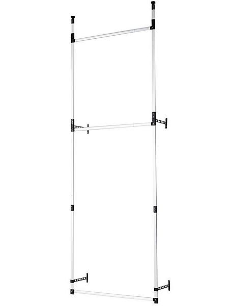 helline home - Système de rangement réglable, avec 3 barres