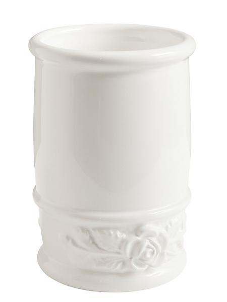 helline home - Gobelet en céramique, roses en relief
