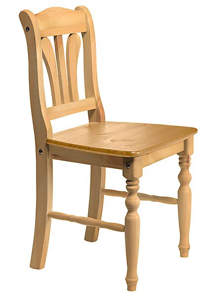 helline home - Chaise en bois de style rustique avec dossier ajouré