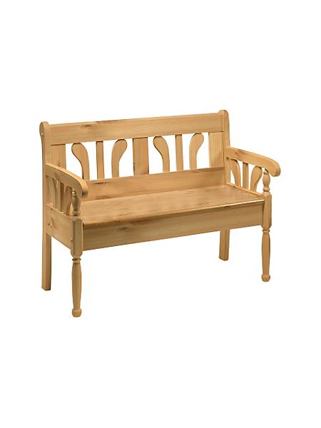 helline home - Banc en bois massif élégant avec espace de rangement