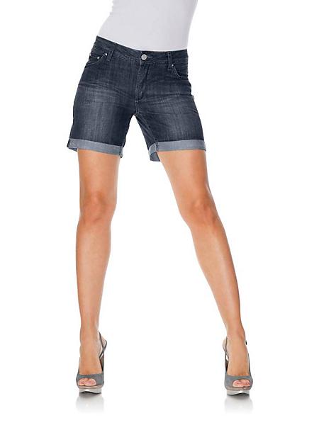 B.C. Best Connections - Short en jean à taille haute et revers