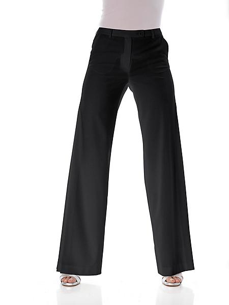Ashley Brooke - Pantalon tailleur femme taille haute, coupe droite