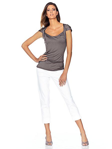 Rick Cardona - T-shirt femme original à manches courtes nouées