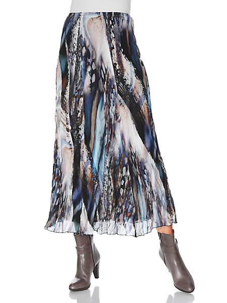 Ashley Brooke - Jupe longue fluide motif tendance, effet voile froissé