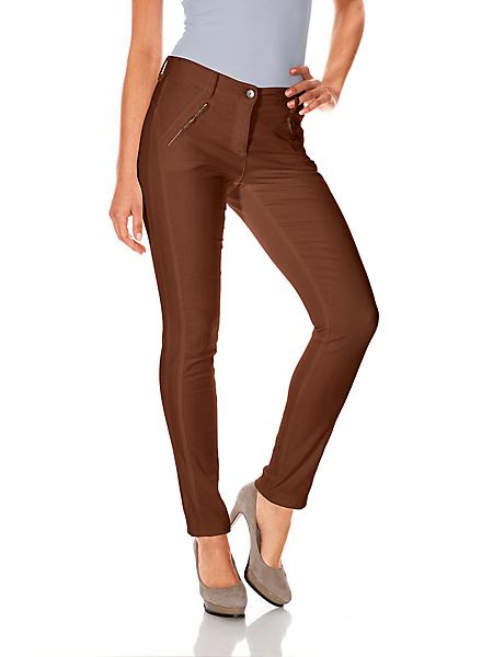 B.C. Best Connections - Pantalon côtelé pour femme avec poches à glissières