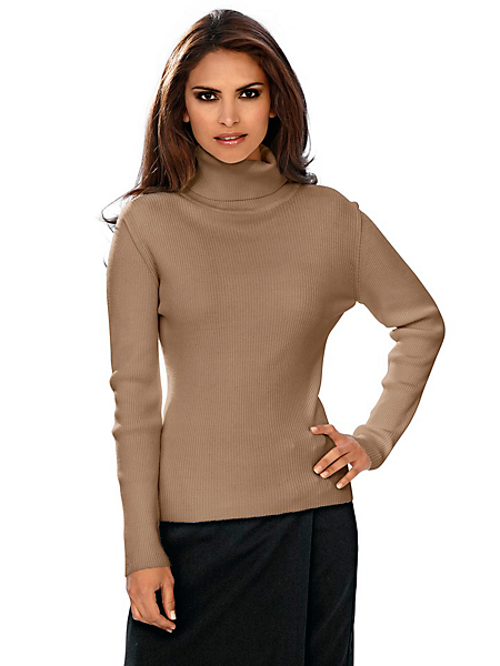 Ashley Brooke - Pull-over femme col roulé style classique