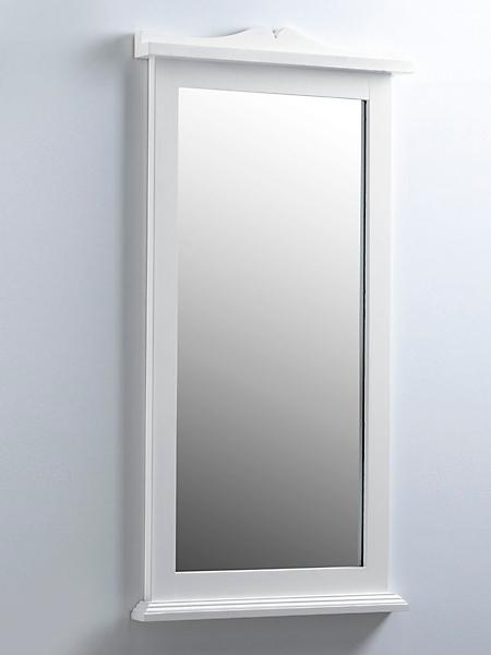 helline home - Miroir cadre en bois massif avec rebord, style patiné