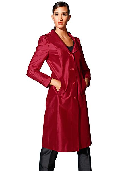 Singh S. Madan - Manteau long en soie, col tailleur