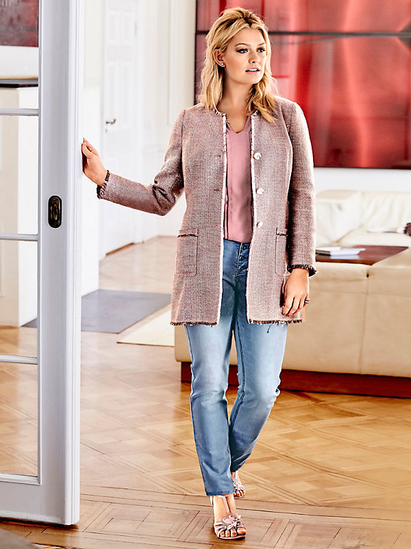 Guido Maria Kretschmer - Veste tissée tendance, coupe longue à poches pour femme
