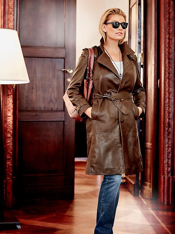 Guido Maria Kretschmer - Manteau en cuir tendance femme style trench-coat