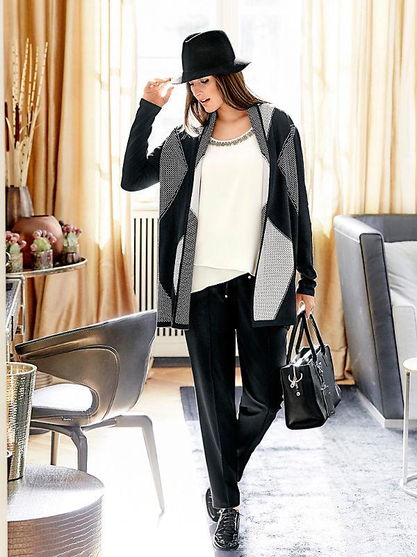 Guido Maria Kretschmer - Gilet long en tricot épais à motif géométrique tendance