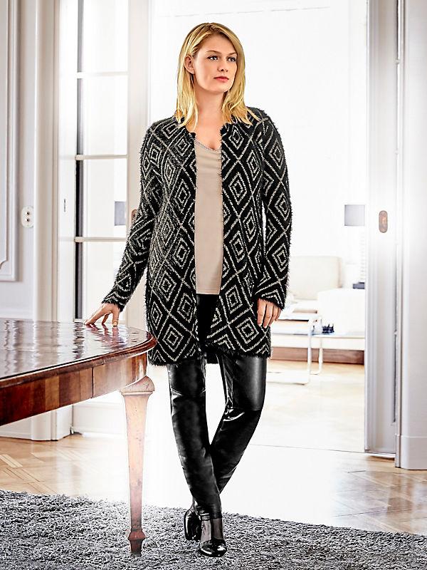 Guido Maria Kretschmer - Manteau long en tricot épais avec motif géometrique