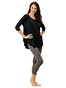 helline - T-shirt femme ample à manches chauve-souris et col rond