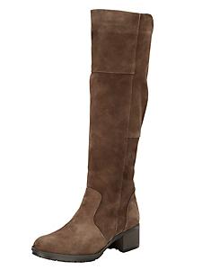 helline - Maxi-bottes en cuir velours doux, talon confortable