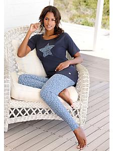 Buffalo - Pyjama femme à manches courtes et caleçon