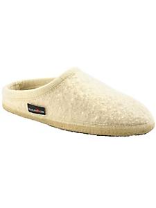 Haflinger - Chaussons classiques en laine vierge unie