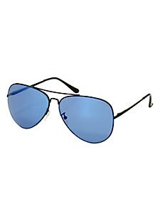helline - Lunettes de soleil aviateur femme monture noir et bleu