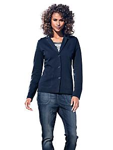 B.C. Best Connections - Blazer femme en sweat bleu marine, col tailleur