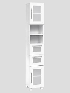 helline home - Meuble colonne moderne avec portes, tiroirs et casiers