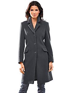B.C. Best Connections - Manteau uni en laine pour femme, coupe longue