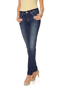 B.C. Best Connections - Jean droit femme, 5 poches à joli surpiqué