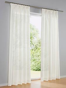 helline home - Rideau en lin uni, attache oeillets ou ruban fronceur