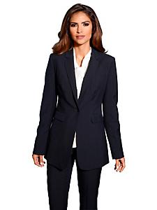 Patrizia Dini - Tailleur pantalon et blazer long uni, coupe ajustée