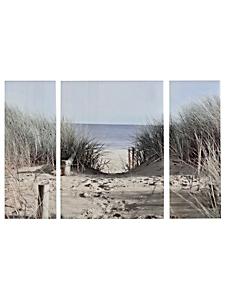 Eurographics - Lot tableaux en verre « plage » (3 pièces)