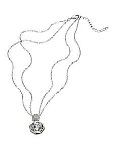 helline - Collier fantaisie à pendentif en fausse pierre chic