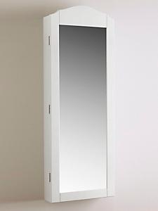 helline home - Armoire à bijoux aimantée et miroir 2 en 1 en bois