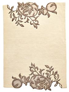 helline home - Tapis original à motif floral, 100% laine