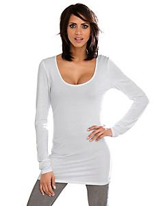 Linea Tesini - T-shirt col rond légèrement long avec manches longues