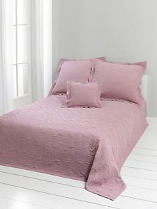 helline home - Couvre lit uni en coton, motif raffiné façon cachemire