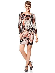 helline - Robe courte drapée, imprimé à motif graphique