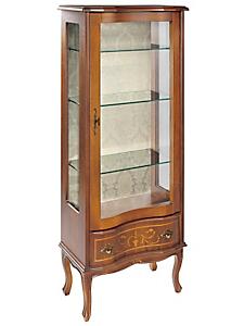 helline - Meuble vitré en peuplier, Artisanat d'art d'Italie