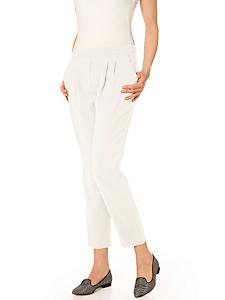helline - Pantalon 7/8 femme uni à pinces et poches