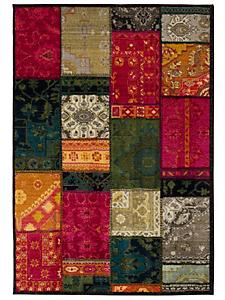 helline home - Tapis à fibres courtes, coloré à motif patchwork