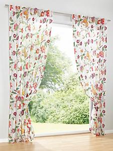 helline home - Rideau semi-transparent, imprimé floral