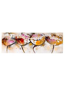 helline home - Tableau panoramique peinture à l'huile motif fleurs