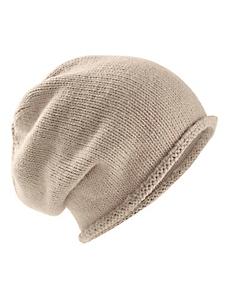 Collezione Alessandro - Bonnet mode forme beanie en tricot fin, bord roulotté