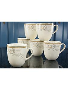 CREATABLE - Vaisselle en porcelaine qualité premium, 'Villa Medici'