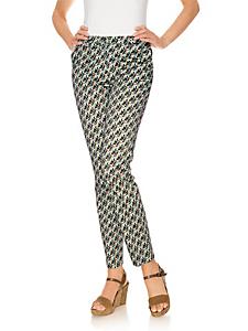 helline - Pantalon droit imprimé à motif géométrique actuel
