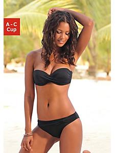 Lascana - Bikini bandeau à armatures, bretelles amovibles