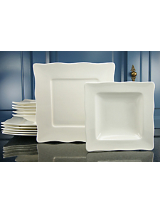CREATABLE - Service de table en porcelaine »EVA« (12 pièces)