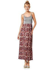helline - Robe longue imprimée en voile fluide, haut débardeur