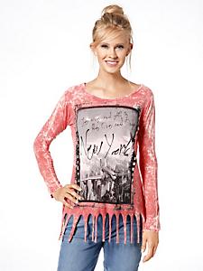helline - T-shirt tendance à manches longues, imprimé New York